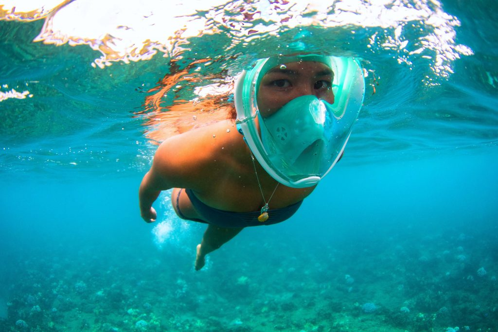 Mask Safety And Proper Safety Signals For Snorkeling Or Diving